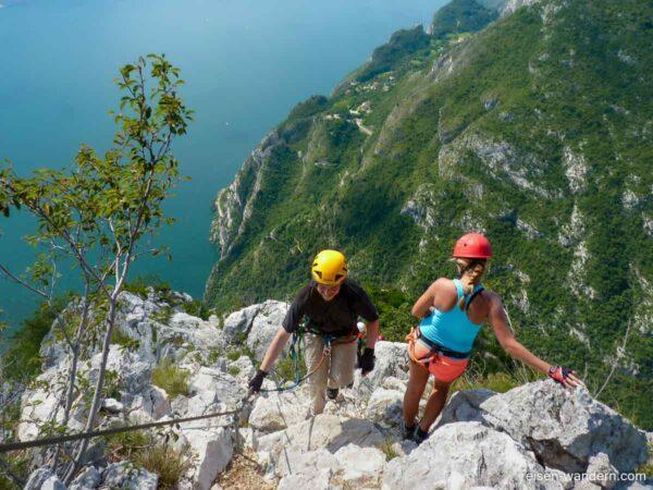 Kletterer am Klettersteig Fausto Susatti