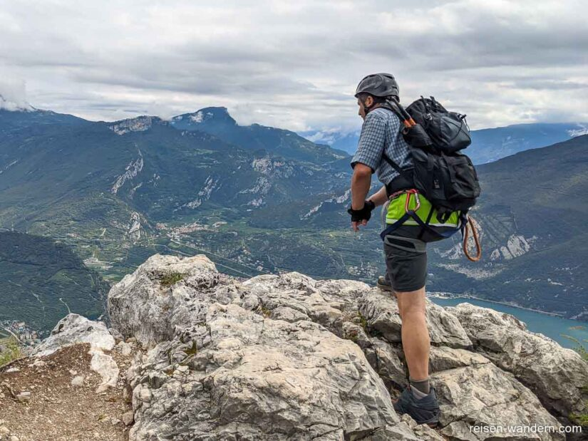 Aussicht vom Fausto Susatti auf Riva del Garda