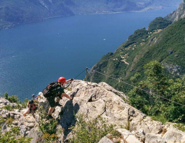 Klettersteig Fausto Susatti in Gipfelnähe
