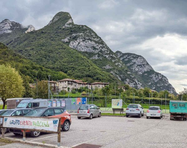 Parkplatz in Biacesa am Gardasee