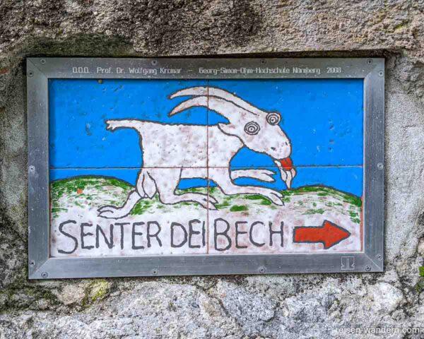 Kachelbild mit Ziege bei Biacesa