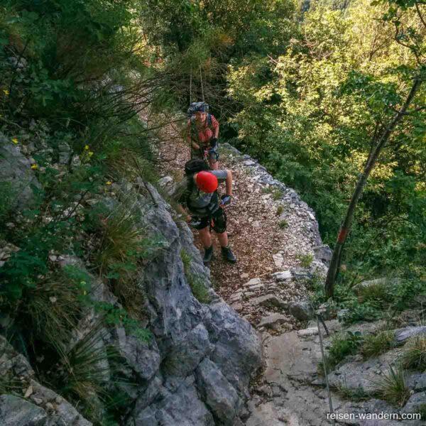 Einstieg zum Kriegssteig Sentiero delle Laste