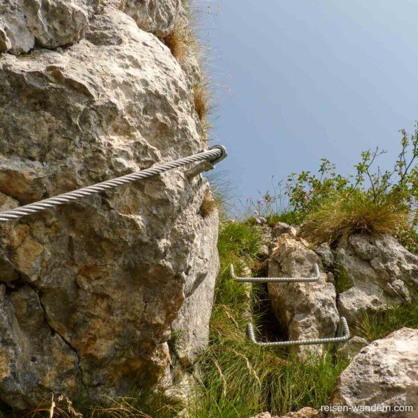 Kletterpassage am Monte Biaena