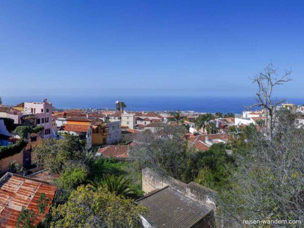 Blick über La Orotava von der Calle Calvario