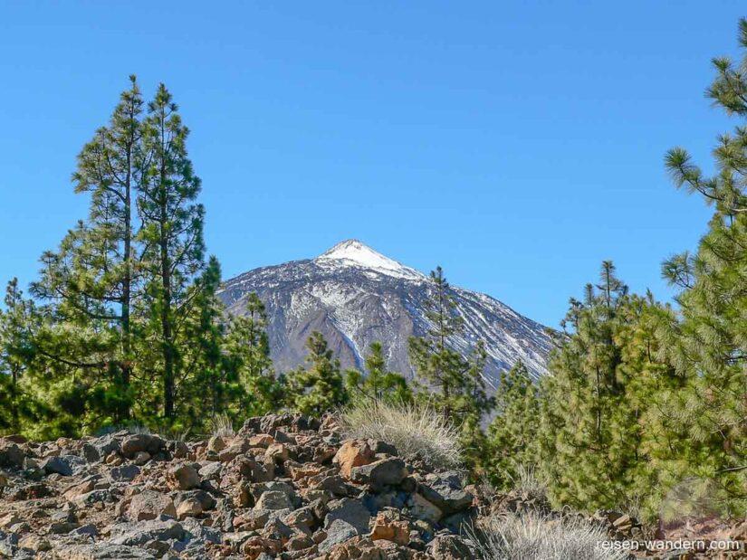Pico del Teide mit kleiner Schneehaube