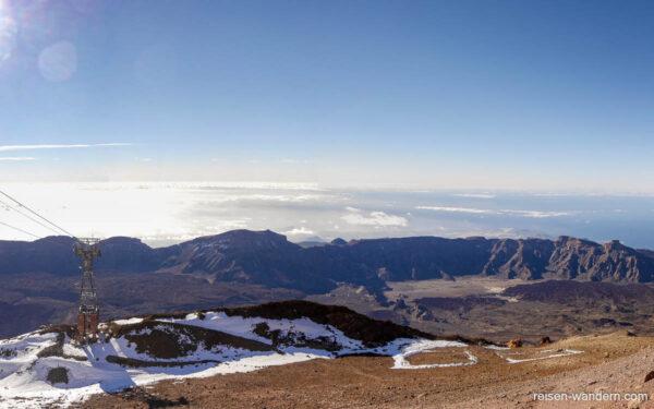 Caldera des Teide von der Bergstation der Seilbahn