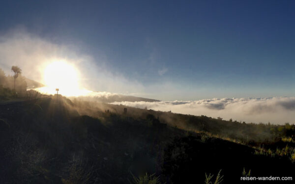 Wolken und Sonne am Teide