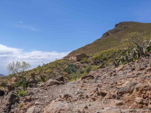 Zerfallenes Haus am Roque del Conde