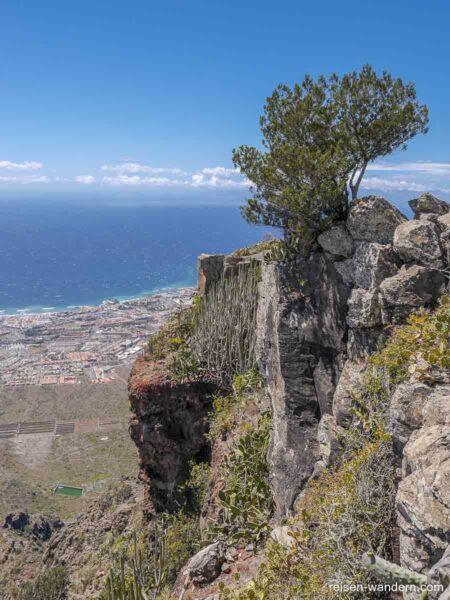 Steilwand am Gipfel des Roque del Conde