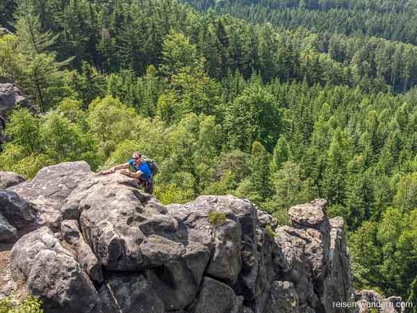 """Kletterer auf Felsen des """"Alpiner Grat"""""""