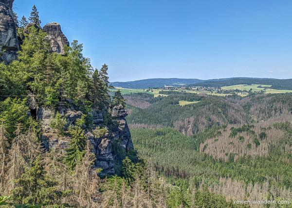 Aussicht im 2. Abschnitte der Oberen Affensteinpromenade