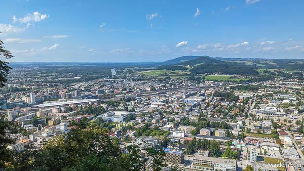Blick auf Salzburg vom Kapuzinerberg