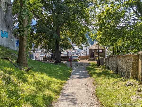 Zugang zum Basteiweg in Salzburg