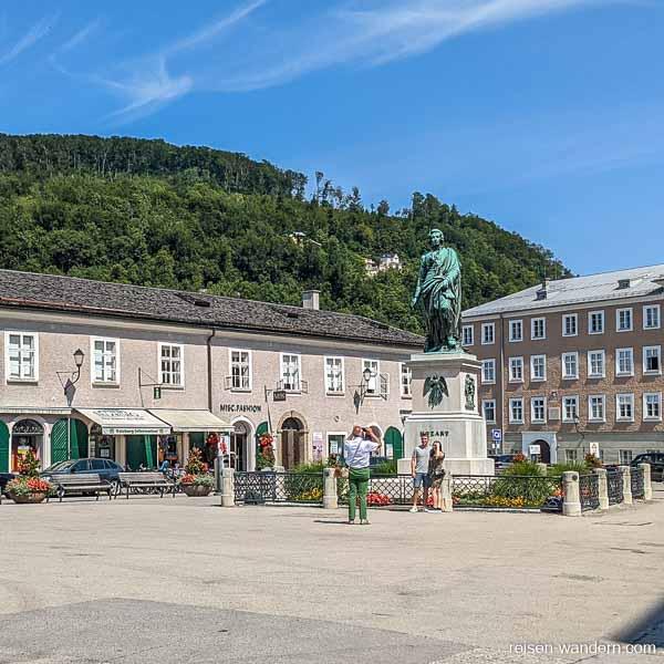 Statue von Mozart in Salzburg