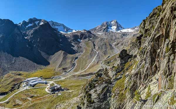 Blick vom Klettersteig Fernau auf den Stubaier Gletscher