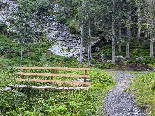 Einstieg des Seewand Klettersteig