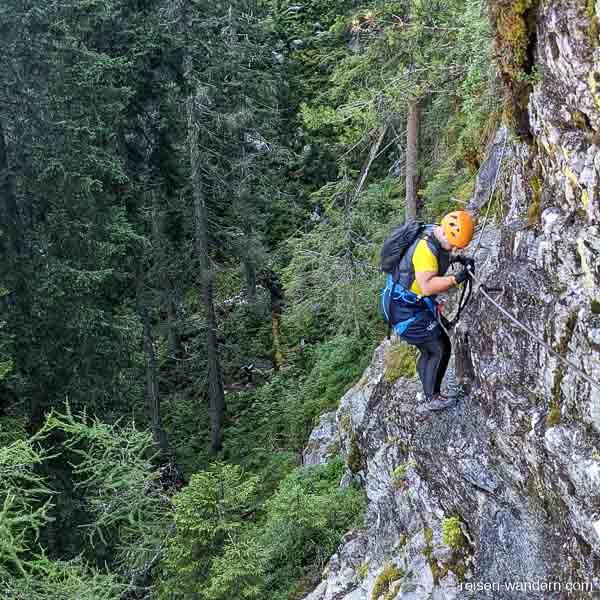 Stahlseil am Seewand Klettersteig