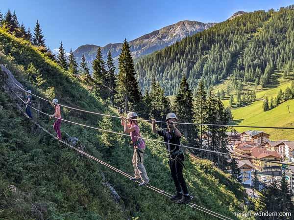 Seilbrücke am Seewand Klettersteig