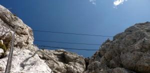 Seilbrücke Klettersteig Leoganger Steinberge