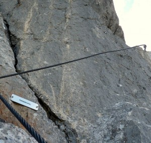 Überhangl am Klettersteig Leoganger Steinberge