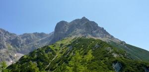 Blick zum Persailhorn von der Peter Wichenthaler Hütte